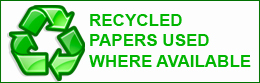 We Print on Recycled Paper